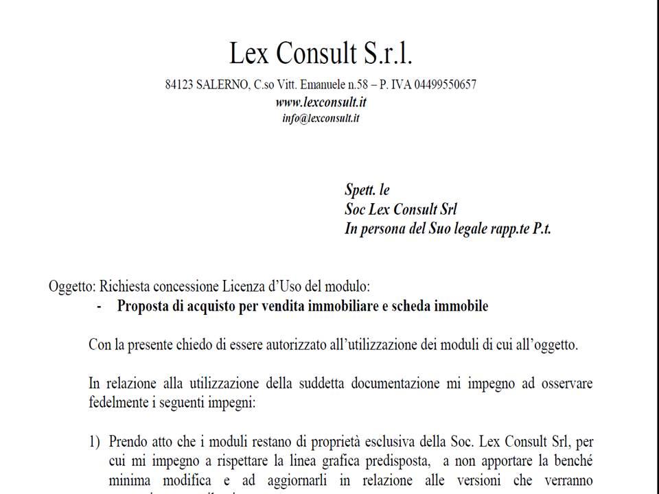 Modulo dichiarazione provvigioni locazione versione - Proposta d acquisto immobile ...